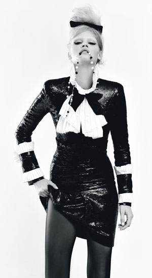 W Mag Lara Stone Chanel